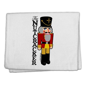 "The Nutcracker with Text 11""x18"" Dish Fingertip Towel by TooLoud"