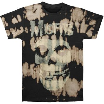 Misfits Men's  Classic Fiend Skull Bleach Spots Mens T-shirt Black