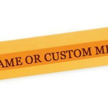 Super Jumbo Giant Pencil - Personalized CUSTOM Add Your Own Engraved Text Funny Novelty TEACHER PRINCIPAL Gag Gift