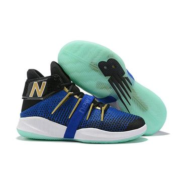 New Balance OMN1S Kawhi Leonard Black White Royal Gold Basketball Shoes- Best Deal Online