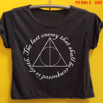 Deatly harrow shirt Harry potter shirt crop shirt Tshirt Woman'Clothing size S M L