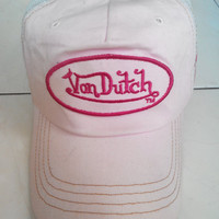 Vintage Pink Von Dutch Girl Trucker caps hat Pink Hat