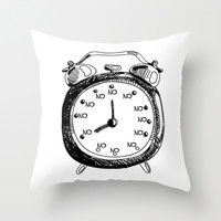 Oh, Look! It's No O'clock - Funny Throw Pillow by Liam Liberty