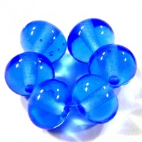 Transparent Dark Blue Handmade Lampwork Glass Beads 056 Shiny (Choices of Etched, .999 Fine Silver, Shapes, Sizes, Large Hole Beads Extra)