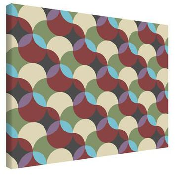Geometric Abstract AOP Printed Canvas Art Landscape - Choose Size by TooLoud