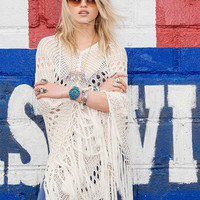 Spell & The Gypsy Collective Crochet Poncho OS
