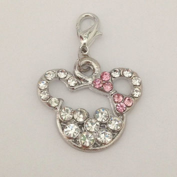 Living locket dangle charms - crystal Minnie Mouse