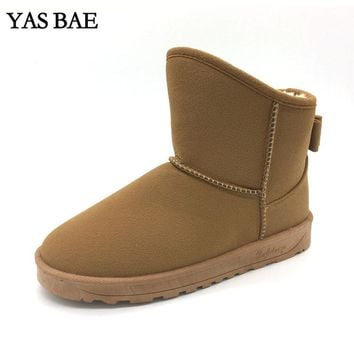 2017 Cheap China Brand Cute Furry women Boots Faux Fur Leather Suede Winter Snow Boots Shoe with Bow style ug Australia for Wome