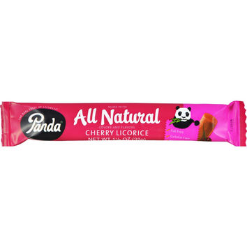 Panda Licorice Bars - Cherry - Case Of 36 - 1.1 Oz