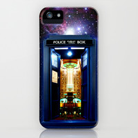 Tardis doctor who bigger on the inside apple iPhone 4 4s, 5 5s 5c, iPod & samsung galaxy s4 case by Three Second