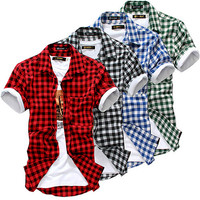 Checkered Multi Colors Short Shirt SOS