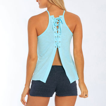 Miami Style® - Women's Lace Up Back Tank