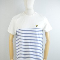 Lyle & Scott Breton Stripe T-Shirt in Storm Blue