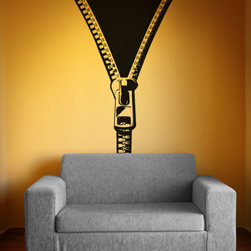 Vinyl Wall Decal Sticker Opening Zipper #OS_AA1339