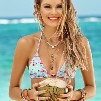 Malai: Aloha Flamingo Triangle bikini (BK0101T-BK0101B) | Swimwear World