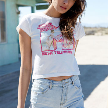 Recycled Karma MTV Spring Break Cropped Graphic T-Shirt at PacSun.com