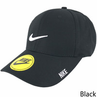 NIKE 208 new men and women tide brand sports and leisure cap black