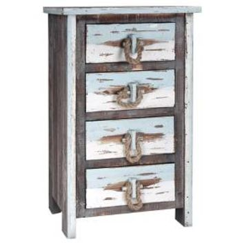4 Drawer Distressed Wood Chest - Distressed Gray - Stylecraft
