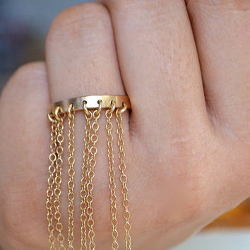 FRINGE - Choose Sterling Silver or Gold Ring