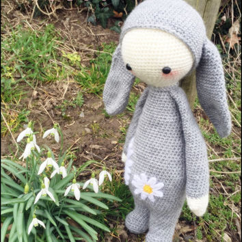 Handmade crochet Daisy rabbit doll - Lalylala **Made to order**