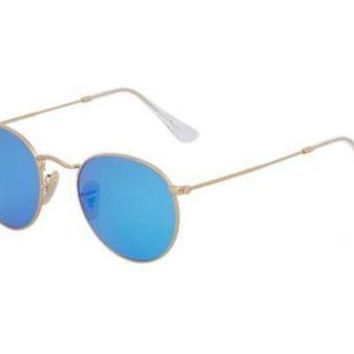 Kalete NEW Genuine Ray Ban RB3447 1124L Gold Mens Womens Sunglasses Glasses Polarised