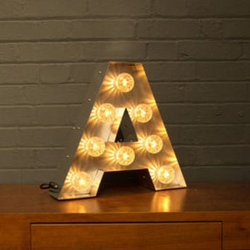 Light Up Marquee Bulb Letters A