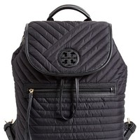 Tory Burch Quilted Nylon Backpack - Black