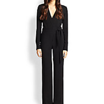 Diane von Furstenberg - Margot Crepe Wrap Jumpsuit - Saks Fifth Avenue Mobile