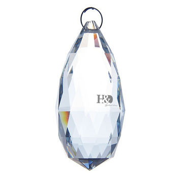 90mm Clear Olive Glass Crystal Hanging Drops Chandelier Prisms Parts Crystal Pendants Drops Suncatcher Feng Shui Home Decoration