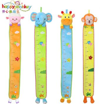HAPPY MONKEY Baby Toys 0-12 Month Infant Height Measure Wall Stickers Growth Chart Rattles Educational Game Doll WJ481
