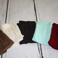 Knitted Boot Cuffs, Knit Boot Toppers, Handknit boot cuffs, lace legwarmers, lace boot socks