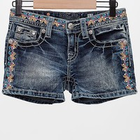 Girls - Miss Me Embroidered Short
