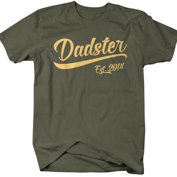 Men's Dadster Est. 2014 T-Shirt Dad Shirts Father's Day Gift Idea Established Daddy Father Tee