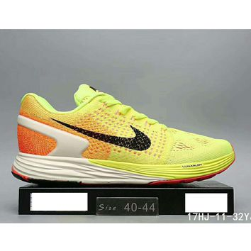 Nike Lunarglide 7 moon fly line men and women casual sports running shoes F-HAOXIE-ADXJ Yellow