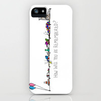 Timeline iPhone Case by Mr. Last Nite | Society6
