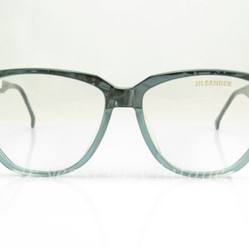 Vintage Eyeglasses ,  Jil Sander , Blue , Geek Nerd , Sunglass Frames , New Old Stock