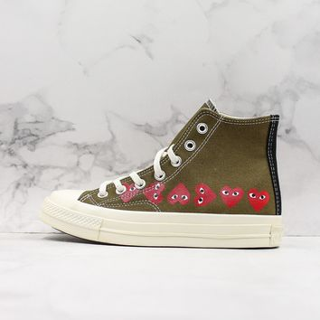 COMME des Garçons CDG Play x Converse All Star Chuck Taylor Hi-Top Canvas Sneaker - Best Deal Online