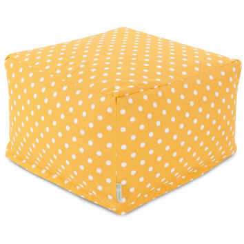 Citrus Ikat Dot Large Ottoman