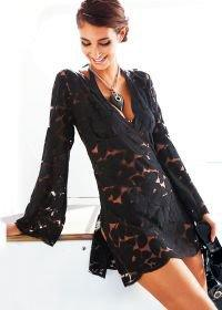 Stretch lace tunic Cover Up