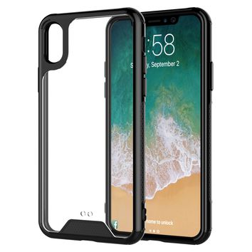 iPhone X Clear Case TPU Transparent Shockproof Black