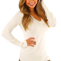 Simple Life Sweater: Ivory