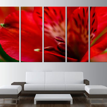 flower wall art canvas, lily canvas wall art, extra Large wall Art, large canvas print, art for large wall, modern wall decor t198