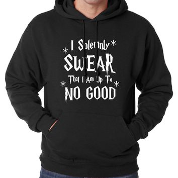 Funny Men Sweatshirt Hoodies I Solemnly Swear- That I Am Up To No Good letters 2017 spring winter warm fleece hoodie hipster men