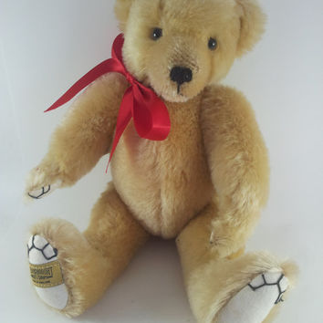 Merrythought Golden Mohair Honeycomb Bear Limited Edition Vintage