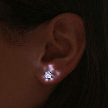 Cool Light up LED Earrings Bright Stylish Glowing Ear Studs Party Light