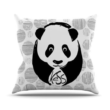 "KESS Original ""Panda"" Outdoor Throw Pillow"