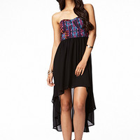 Southwestern Print High-Low Dress