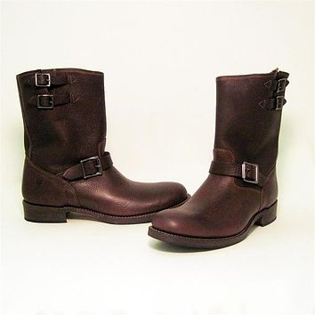 Frye Boot Brando - Brown Short Boot