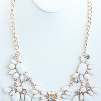 Ivory Five Piece Petal Necklace Set - Ivory Five Piece Petal Necklace Set