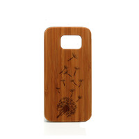 Real wood Samsung Galaxy S6 Case, Dandelion Samsung Galaxy S6 Case, Wood Galaxy S6 Case